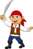 Cute pirate kid cartoon Stock Photos