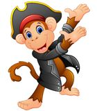 Cute pirate monkey presenting Stock Photo