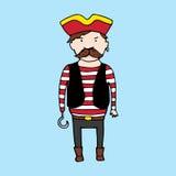 Cute pirate in sketch style Stock Photo