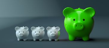 Piggy Bank save money investment royalty free stock photos