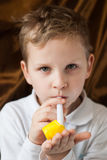 ,a cute playful child in a white shirt Royalty Free Stock Photos