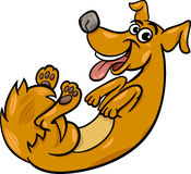 Cute playful dog cartoon illustration Royalty Free Stock Images