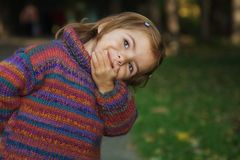 Cute playful girl Royalty Free Stock Photos