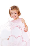 Cute playful little princess Royalty Free Stock Image