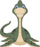Cute plesiosaurus cartoon Royalty Free Stock Image