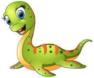 Cute plesiosaurus cartoon Stock Photo