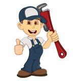 Cute Plumber cartoon Stock Photos