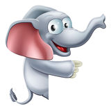Cute Pointing Elephant Stock Images
