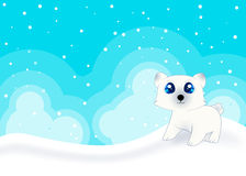 Cute Polar Bear Card Royalty Free Stock Photography