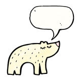 Cute polar bear cartoon Royalty Free Stock Photos