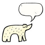 Cute polar bear cartoon Royalty Free Stock Photos