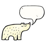 Cute polar bear cartoon Stock Images