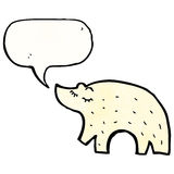 Cute polar bear cartoon Royalty Free Stock Photography