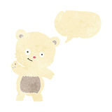 Cute polar bear cartoon with speech bubble Royalty Free Stock Photo