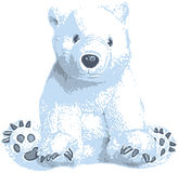 Cute polar bear clip art Stock Photo