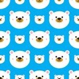 Cute polar bear seamless Royalty Free Stock Photos