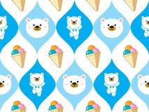Cute polar bear seamless Stock Images