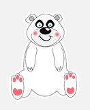 Cute polar bear vector illustration Stock Photos