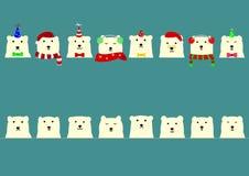 Cute polar bears  border Stock Image