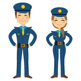 Cute Police Agents Royalty Free Stock Photo