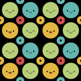 Cute polka dot background Stock Image