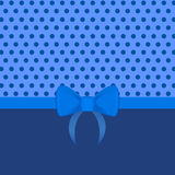 Cute polka dot background with bow - Illustration. Cute polka dot background with bow in blue tones- Illustration stock illustration