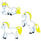 Cute pony set Stock Image