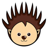 Cute Porcupine Vector. Cute animal faces in  (One of 25 of them Stock Photo