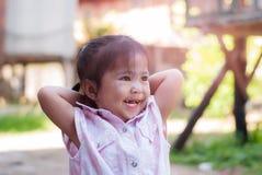 Portrait of emotional little girl stock images