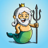 Cute Poseidon Royalty Free Stock Image