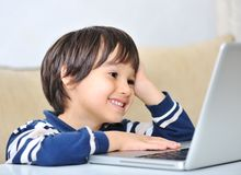 Cute positive kid Stock Images