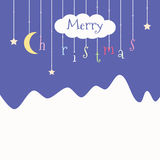 Cute postcard with Christmas. Stock Photo