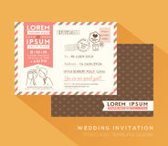 Cute postcard wedding card design Template Stock Photography