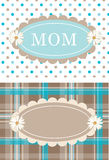 Cute Postcards Daisy Flower Dots Plaid Stock Photos