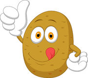 Cute potato cartoon thumb up Stock Images