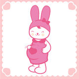Cute pregnant bunny Royalty Free Stock Images
