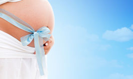 Baby pregnancy - It´s a boy! Royalty Free Stock Images