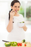 Cute pregnant woman Stock Images