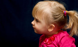 Cute preschool blond girl Stock Photography