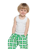 Cute preschool boy Stock Images