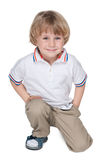 Cute preschool boy on the white Stock Photography