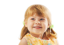 Cute preschool girl Stock Images