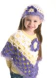 Cute preschool girl wearing handmade clothes Stock Photo