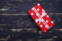 Cute present dotted box Stock Images