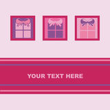 Cute presents card Stock Images