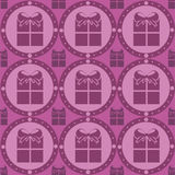 Cute presents pattern Stock Photos