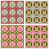 Cute presents patterns Royalty Free Stock Photos
