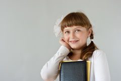 Cute preteen schoolgirl portrait Stock Photo