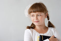 Cute preteen schoolgirl portrait Royalty Free Stock Images