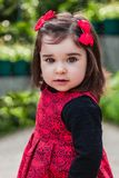 Cute, pretty, happy, smiling toddler baby girl stock images